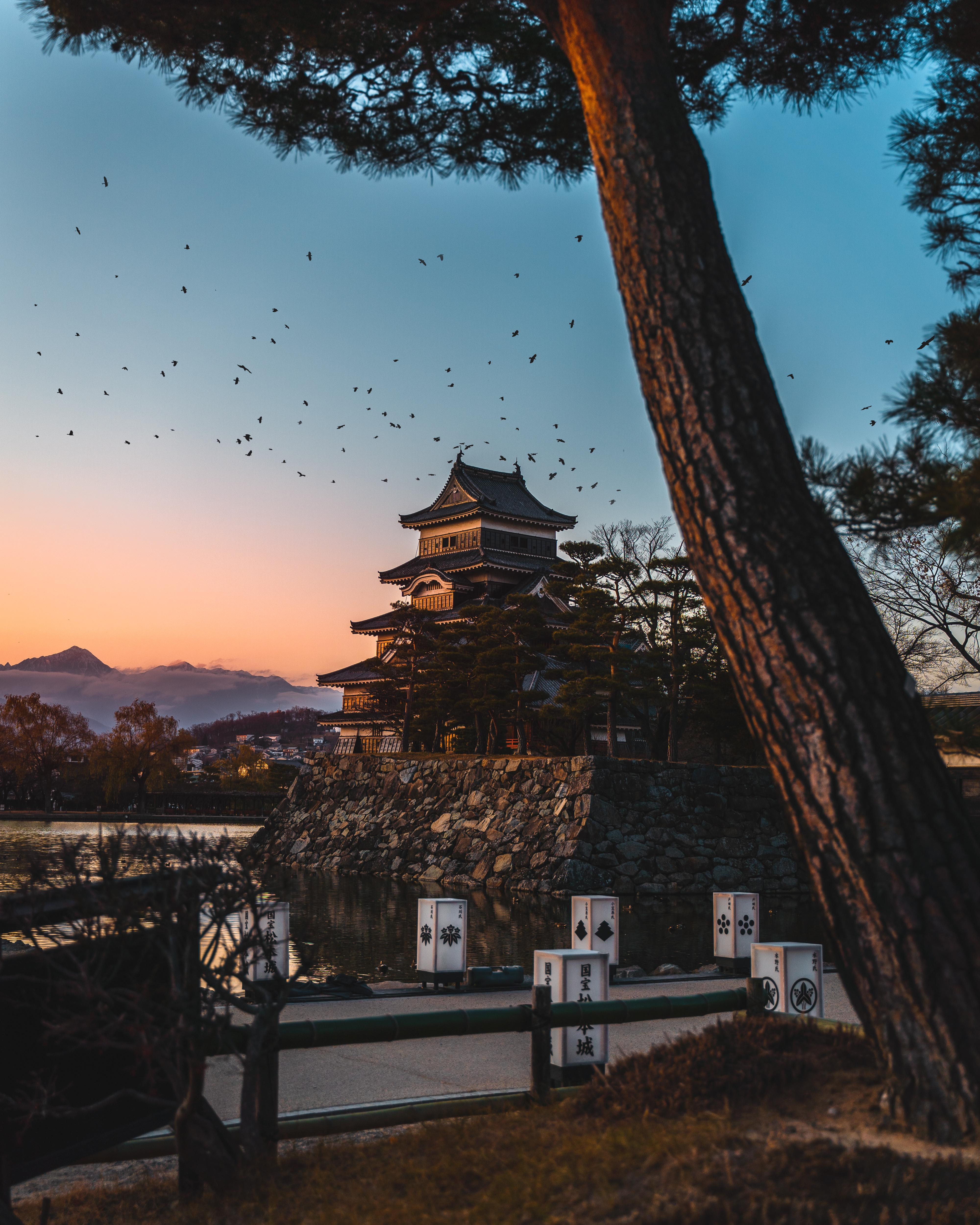 Japanese Castle at Sunset